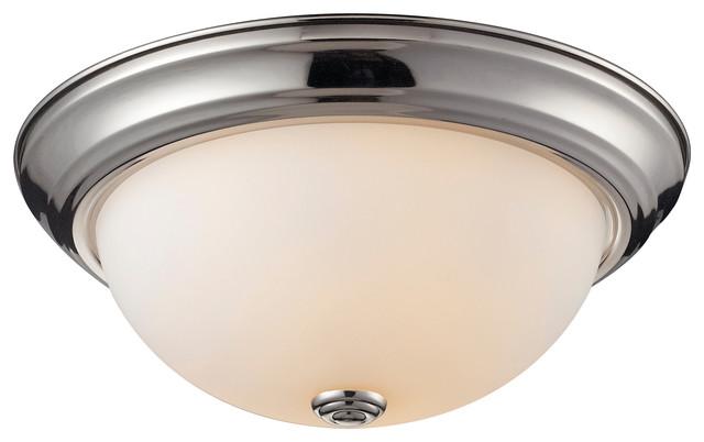 Athena Chrome 2light Flush Mount contemporarybathroomlightingandvanitylighting