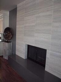 Contemporary Tile Fireplace - Contemporary - Living Room ...