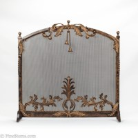 Dark bronze and gold iron fireplace screen - Traditional ...