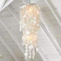 Long Hanging Capiz Pendant Lamp - Modern - Pendant ...