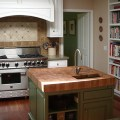 Butcherblock island countertop by grothouse traditional kitchen