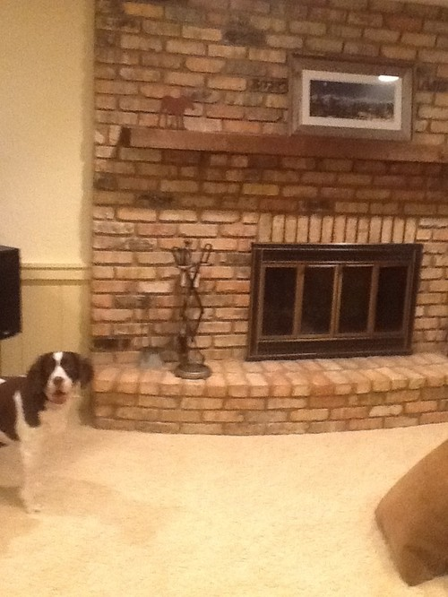 What Color Paint To Go With Brick Fireplace