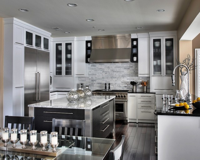Stunning White  Contemporary  Kitchen  Other Metro  By