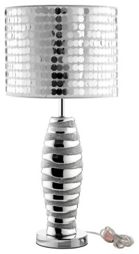 Silver Sparkle Modern Table Lamp - Modern - Table Lamps ...