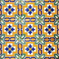 "Hand Painted 4"" x 4"" Decorative Ceramic Tiles ..."