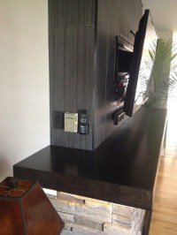 Fireplace Bump out Renovation - Contemporary - other metro ...