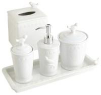 White Bird Stoneware Bath Accessories - Contemporary ...