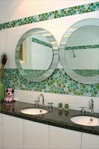 Bubble glass bathroom