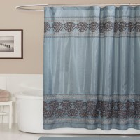 Lush Decor Royal Dynasty Blue/ Brown Shower Curtain ...