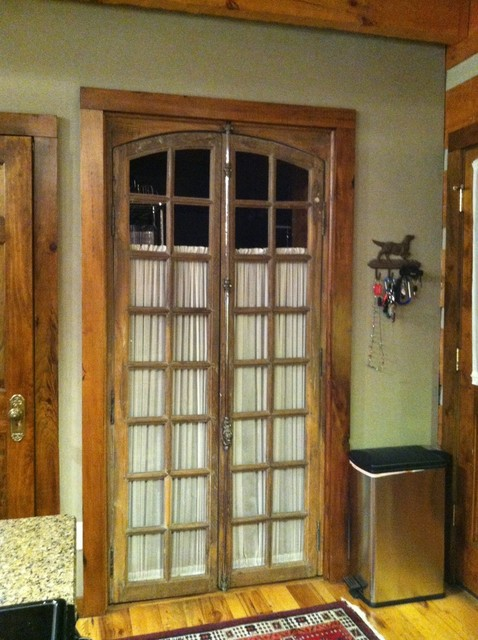 Antique French Doors Lead To Laundry Room Traditional