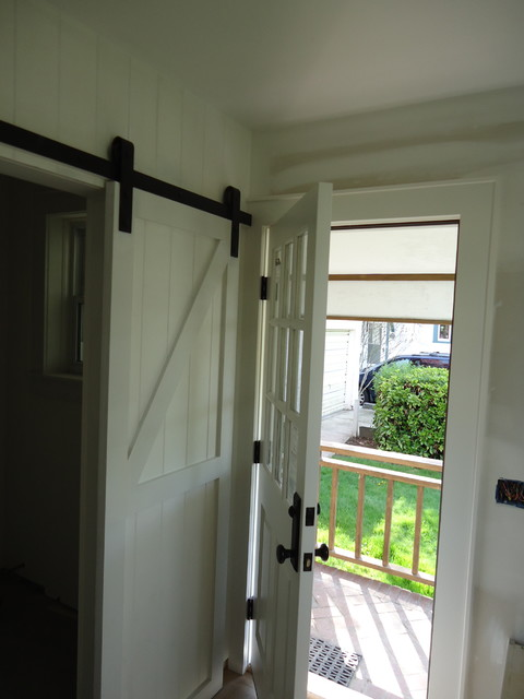 Barn Door for the powder room  Powder Room  new york
