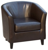 Petaluma Tub Design Leather Club Chair - Contemporary ...