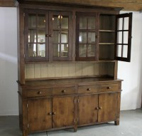Large Reclaimed Wood Hutch - Traditional - China Cabinets ...