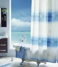 Beach Style Vinyl Shower Curtains   Decorticosis