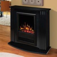 Mozart Gloss Black Electric Fireplace Mantel Package ...