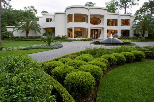 contemporary landscaping project