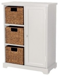 Entryway Storage Cabinet, White - Contemporary - Accent ...