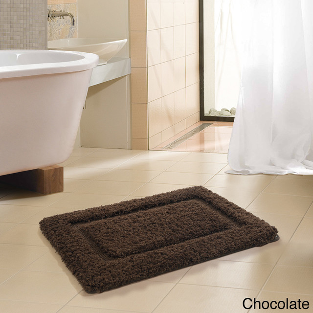 FreePort Microfiber High Pile Memory Foam Bath Rug