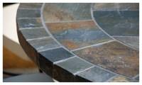 "OCEANE 49"" & 63"" MOSAIC SLATE STONE GARDEN PATIO TABLE ..."