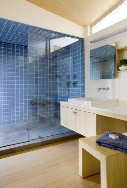 contemporary beach house bathroom Modern Beach Home Bathrooms - Modern - Bathroom - boston - by ZeroEnergy Design