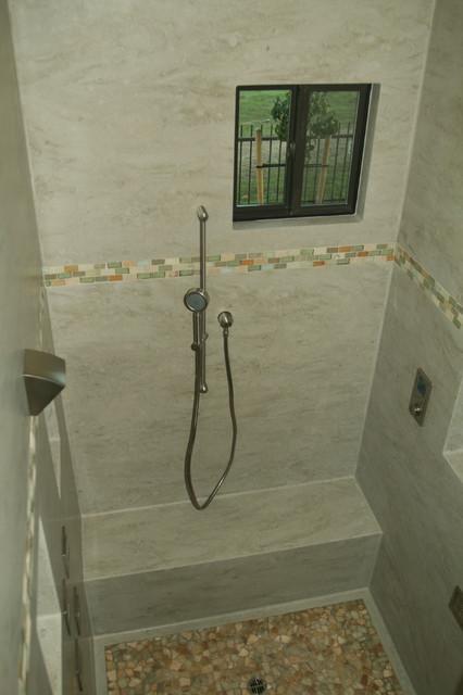 Corian 174 Sagebrush Shower Contemporary Bathroom San Francisco By Butler Johnson Corporation