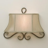 Half Shade Iron Scroll Sconce - Lamp Shades - by Shades of ...