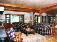 Adirondack Family Compound - Traditional - Living Room ...