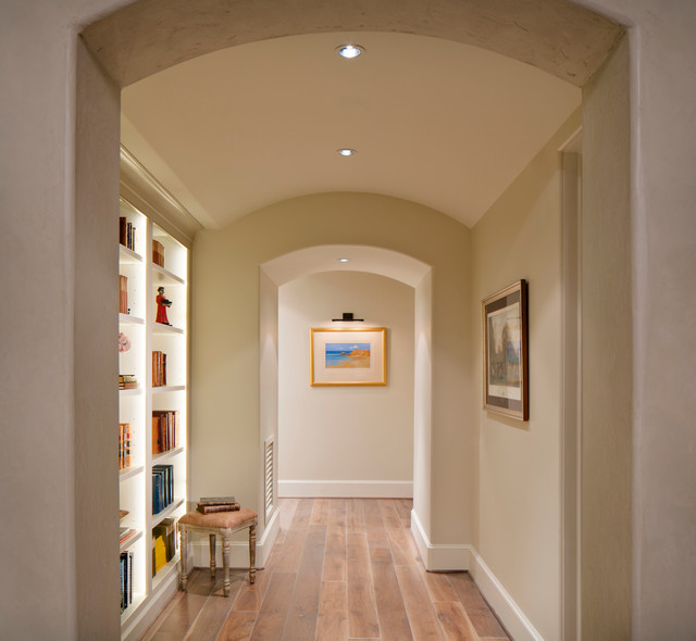 Upstairs Hallway with Builtins  Contemporary  Hall  houston  by Bankston May Associates