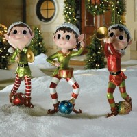 Set of Three Pixie Elves - Frontgate - Outdoor Christmas ...
