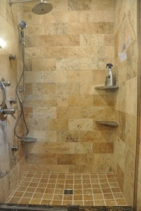 Tuscan Wave Stone Shower - Eclectic - Bathroom ...