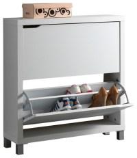 Baxton Studio Simms White Modern Shoe Cabinet - Modern ...