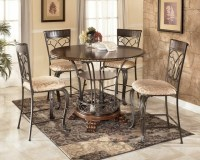 "Alyssa 48"" Round Counter Height Table Dining Set, Ashley"