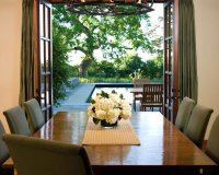 French Doors Dining Design Ideas, Pictures, Remodel and Decor