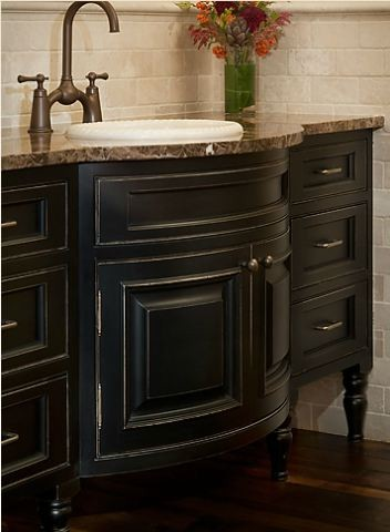 Bathroom Vanity Ideas with black painted cabinetry  Traditional  Bathroom  minneapolis  by