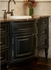 Bathroom Vanity Ideas with black painted cabinetry ...