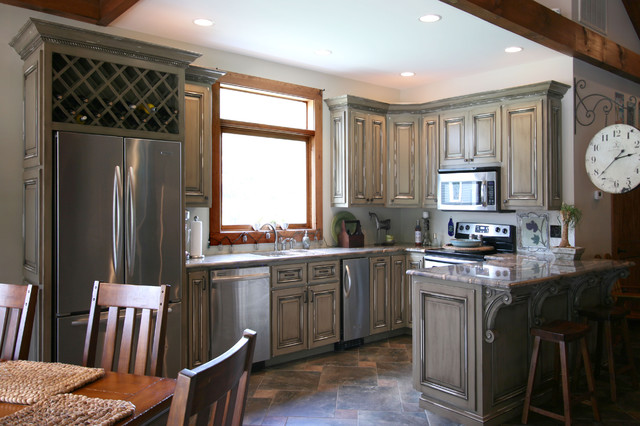 Pool House  Man Cave Combination  Traditional  Kitchen