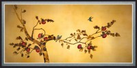 Birds on Plum Tree Canvas Wall Art - Traditional - Artwork ...