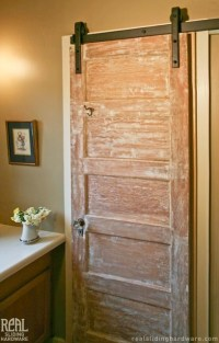 Barn Door Hardware - Rustic - Bathroom - san luis obispo ...