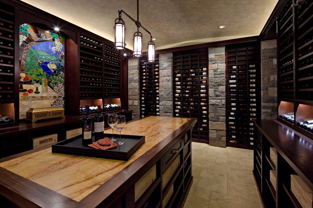 wine rack in living room pictures of decorated rooms with sectionals seattle man cave - contemporary cellar ...