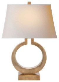 O Lamp, Antiqued Brass - Contemporary - Table Lamps - by ...