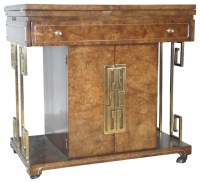 Consigned Mastercraft Rolling Bar Cart Home Bar