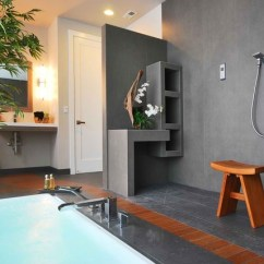 Blue Kitchen Wall Clocks Table Benches Japanese Onsen - Contemporary Bathroom Seattle By ...