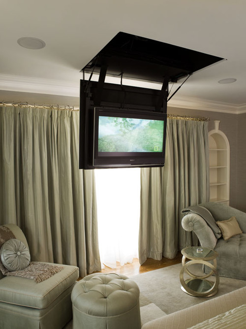 hiding tv in living room country themed curtains the great cover-up - 7 ways to disguise your tidbits ...