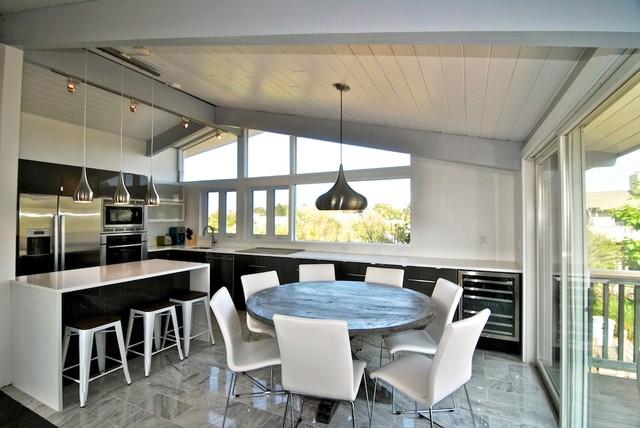 bosch kitchen set remodeling ideas on a budget 80's beach house renovation fire island - modern dining ...