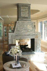 Central fireplace