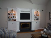 Fireplace Wall Redo - Traditional - Living Room - other ...