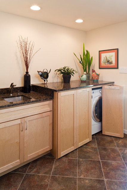 Beautiful Contemporary Accessible Kitchen  Contemporary  Laundry Room  baltimore  by Owings
