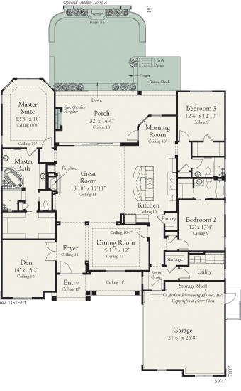 Carrington 1151  Traditional  Floor Plan  tampa  by