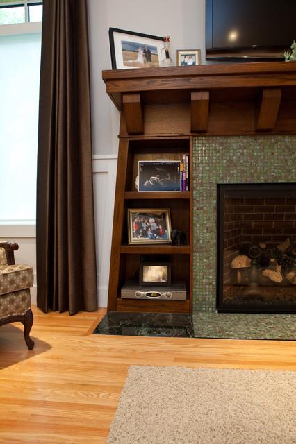 Builtins around Fireplace  Craftsman  Living Room  edmonton  by Habitat Studio