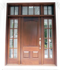 Front Doors: Front Door With Sidelights And Transom